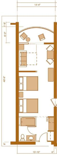 One bedroom condo floor plan