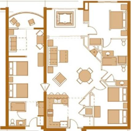 Three Bedroom Condo Floor Plan